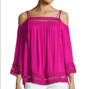 NWT Laundry by Shelli Segal cold shoulder top
